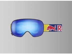 5499 lyzarske bryle red bull spect goggles magnetron 002 matt black frame blue headband lens blue snow cat3