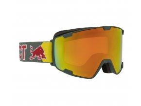 5574 lyzarske bryle red bull spect goggles park 002 matt olive green frame olive green headband lens red snow cat2