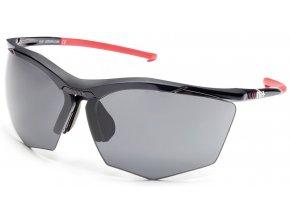 sluneční brýle RH+ Super Stylus, black/red, grey + orange lens