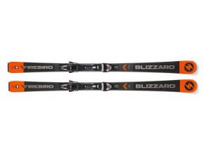 Lyže BLIZZARD FIREBIRD Race Ti, black/grey/orange, 18/19 s viazaním TPX 12 DEMO, 18/19