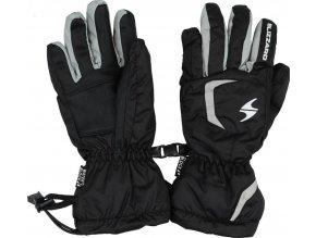 lyžařské rukavice BLIZZARD Reflex junior ski gloves, black/silver (Veľkosť 6)
