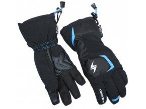 lyžařské rukavice BLIZZARD Reflex junior ski gloves, black/blue (Veľkosť 6)