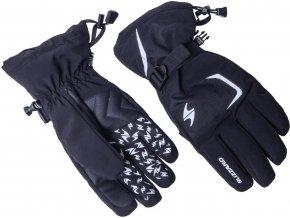 lyžařské rukavice BLIZZARD Reflex, black/silver (Veľkosť 9)