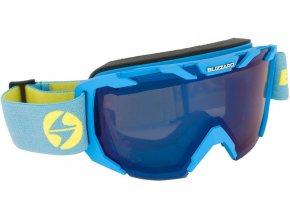 9807 lyzarske bryle blizzard ski gog 925 mdazo neon blue matt smoke2 blue mirror