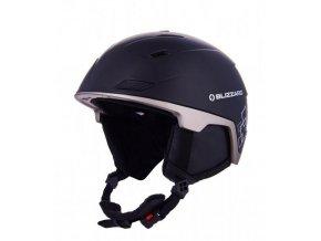 helma BLIZZARD Double ski helmet, black matt/gun metal/silver squares (Veľkosť 60-63)