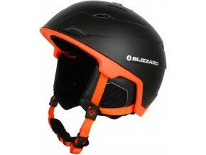 helma BLIZZARD Double ski helmet, black matt/neon orange, big logo (Veľkosť 60-63)