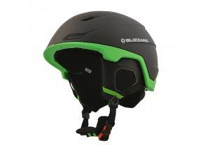 helma BLIZZARD Double ski helmet, black matt/neon green (Veľkosť 60-62)