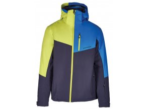 lyžařská bunda BLIZZARD Mens Ski Jacket Cervinia, grey/bright blue/neon green (Veľkosť XXL)