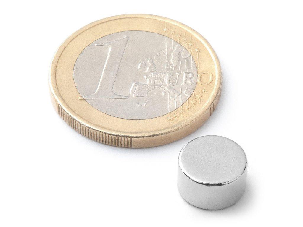 8552 neodymovy magnet valec d 9x5 mm neodym n42 poniklovany