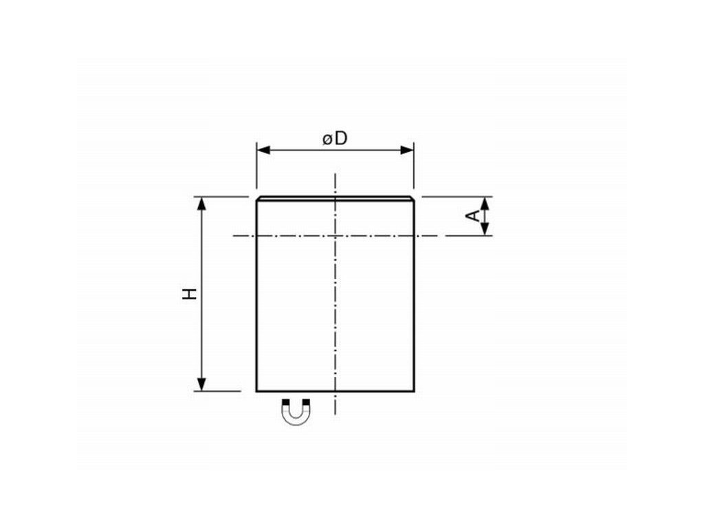 AlNiCo magnetická čočka válcová s tolerancí H6 50x50 mm