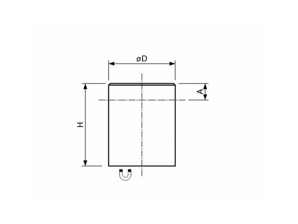 AlNiCo magnetická čočka válcová s tolerancí H6 63x60 mm