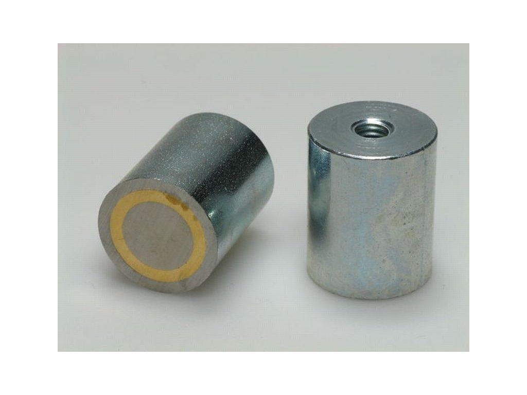 AlNiCo magnetická čočka válcová s vnitřním závitem 20x25 mm