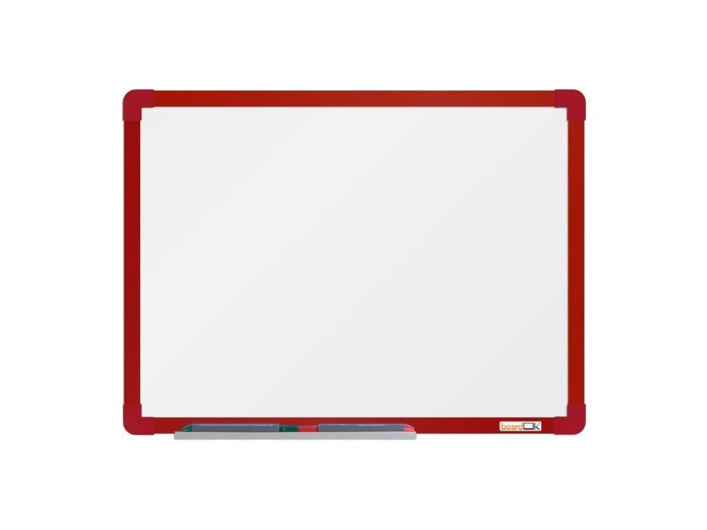 Emailová tabule rám červený