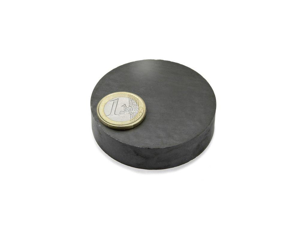 Feritový magnet válec D60x15mm, Ferit, Y35, bez povrchové úpravy