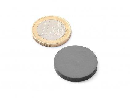 Feritový magnet - válec 25x3 mm