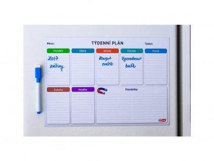 Magnetický týdenní plánovač - kancelář