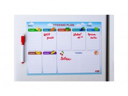 Magnetický týdenní plánovač - domácnost