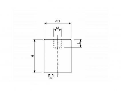 AlNiCo magnetická čočka válcová s vnitřním závitem 50x60 mm
