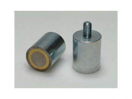 AlNiCo magnetická čočka válcová s vnějším závitem 25x35 mm