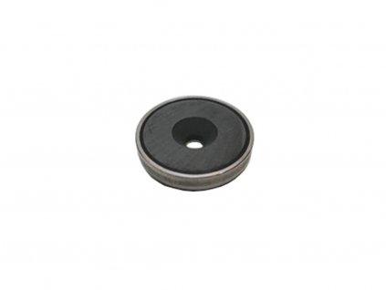 Feritová magnetická čočka nerezová se středovou dírou s 90° sražením