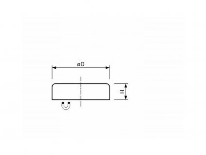 Feritová magnetická čočka plochá bez závitu 25x7 mm