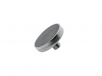 Feritová magnetická čočka nerezová se závitovým pouzdrem 50x18.5x10 mm
