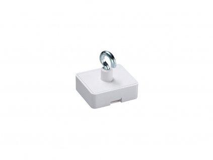 Dekorační magnet feritový bílý s háčkem