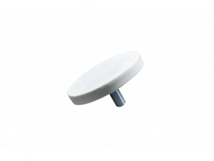 Neodymový pogumovaný magnet s vnějším závitem 43x21x6 mm