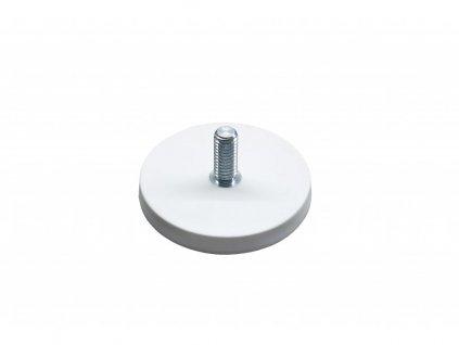 Neodymový pogumovaný magnet s vnějším závitem 66x23,5x8,5 mm