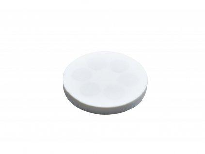 Neodymový pogumovaný magnet s vnitřním závitem 66x8,5 mm