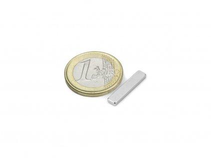 Neodymový magnet hranol 20x4x2mm, Neodym, N45, poniklovaný