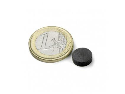 Feritový magnet válec D10x3mm, Ferit, Y35, bez povrchové úpravy