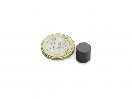 Feritový magnet válec D10x10mm, Ferit, Y35, bez povrchové úpravy