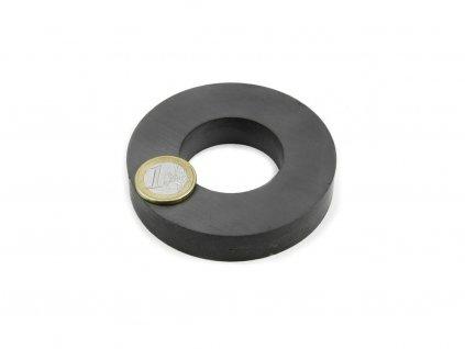 Feritový magnet mezikruží D80/40mm, H15mm, Ferit, Y35, bez povrchové úpravy