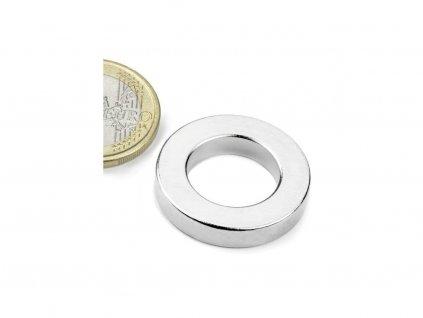 Neodymový magnet mezikruží D26.75/16mm, H5mm, Neodym, N42, poniklovaný