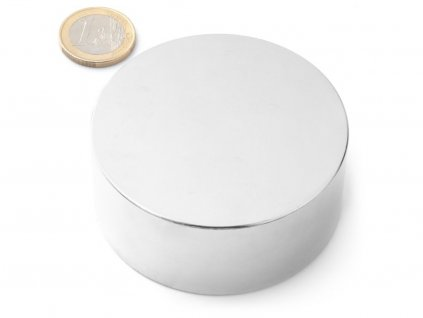 Neodymový magnet válec D70x30 mm, Neodym, N38, poniklovaný