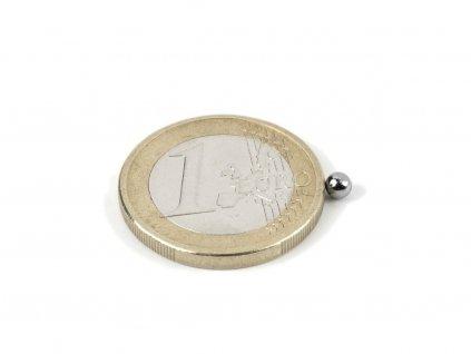 Neodymový magnet koule D 4 mm
