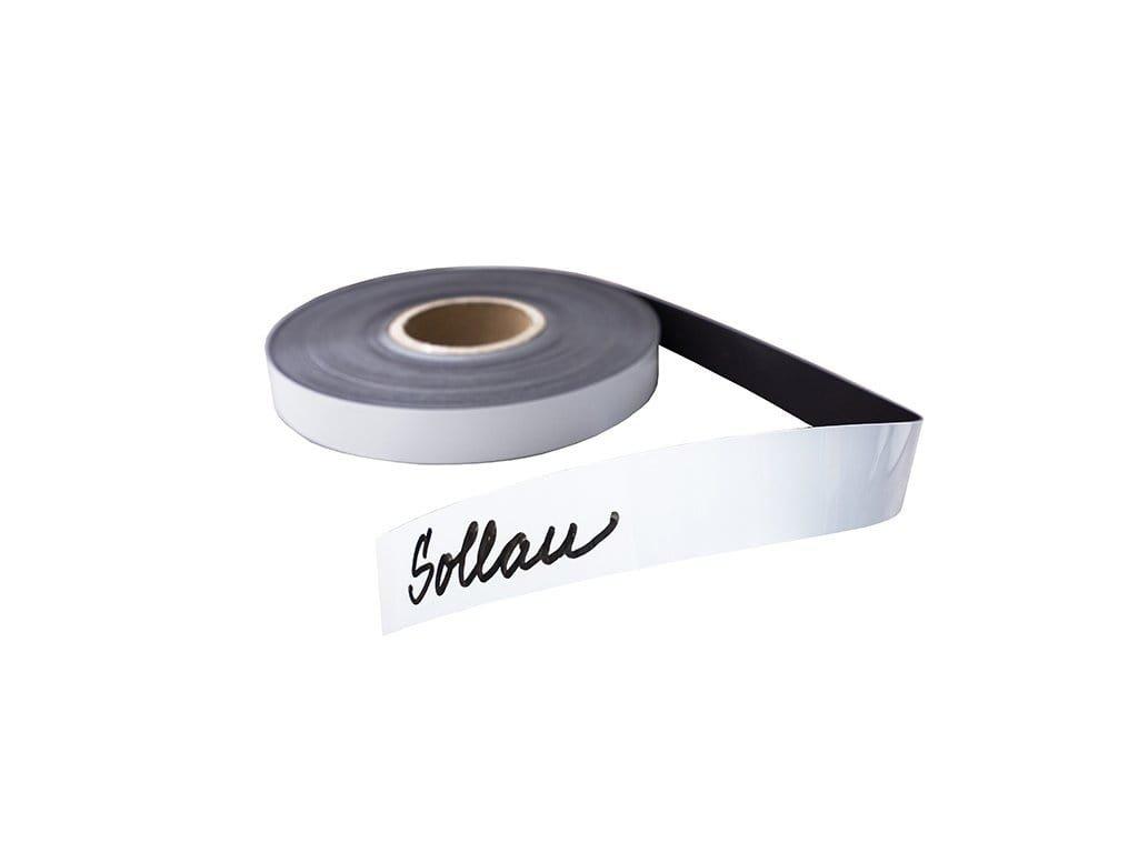 Magnetband, weiß, mit Schreibmarker beschreibbar