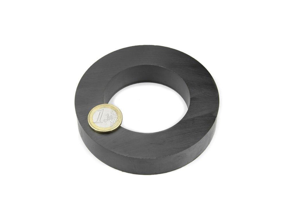 Feritový magnet mezikruží D100/60mm, H20mm, Ferit, Y35, bez povrchové úpravy
