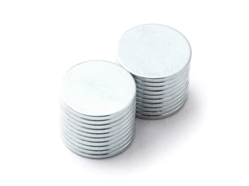 8615 neodymovy magnet valec d 12x1 mm neodym n38 pozinkovany