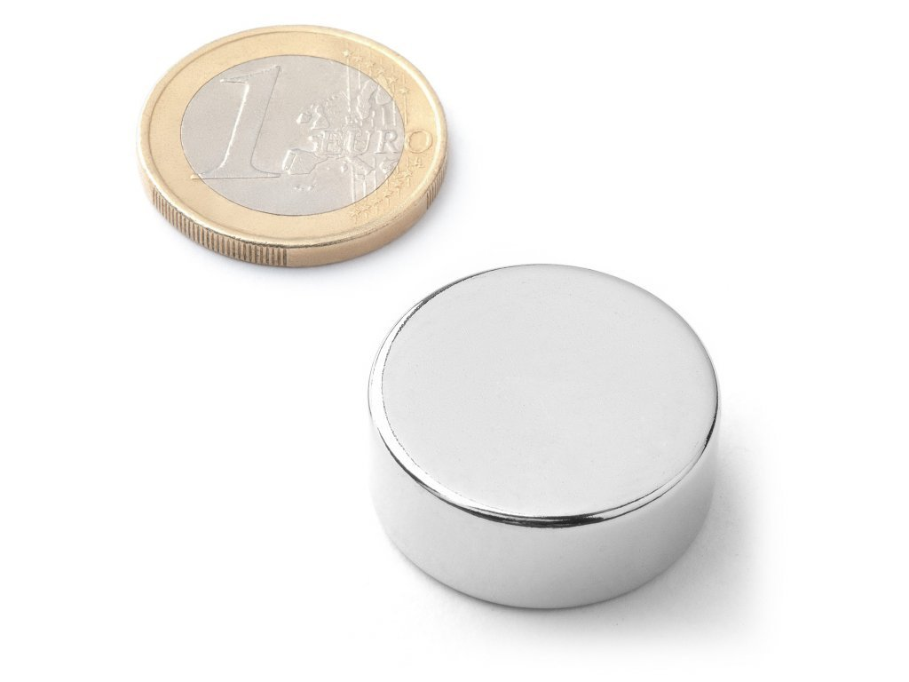 8753 neodymovy magnet valec d 25x10 mm neodym n40 poniklovany