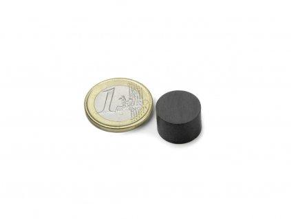 Feritový magnet válec D15x10mm, Ferit, Y35, bez povrchové úpravy
