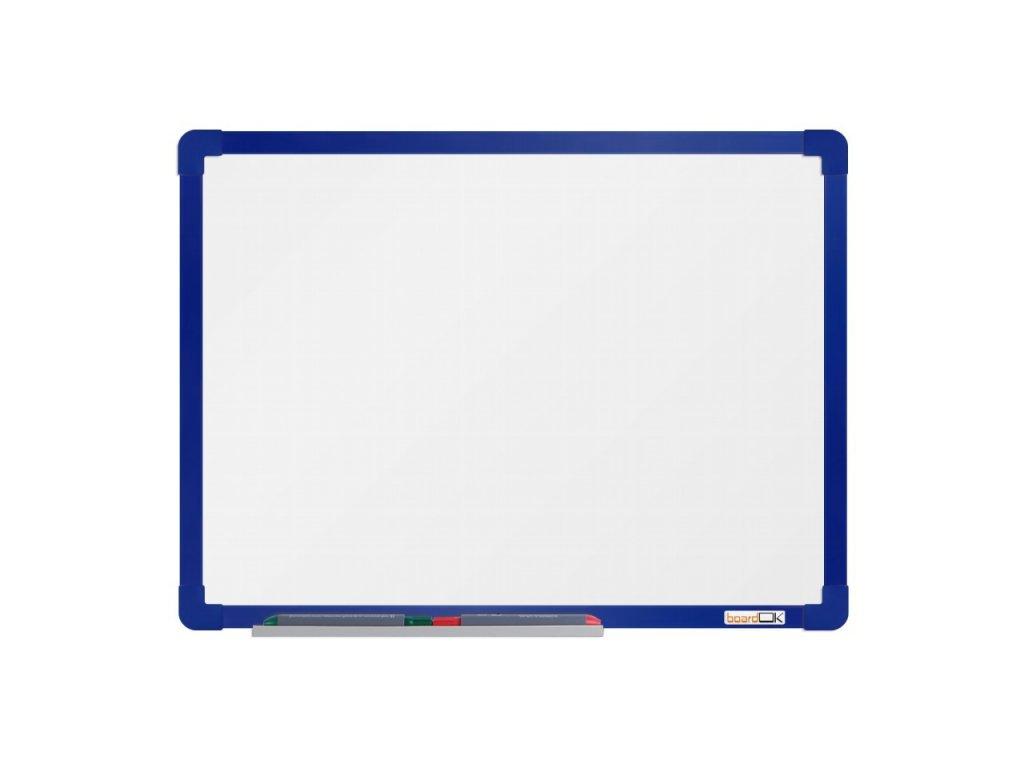 Emailová tabuľa ramček modrý 60x90 cm