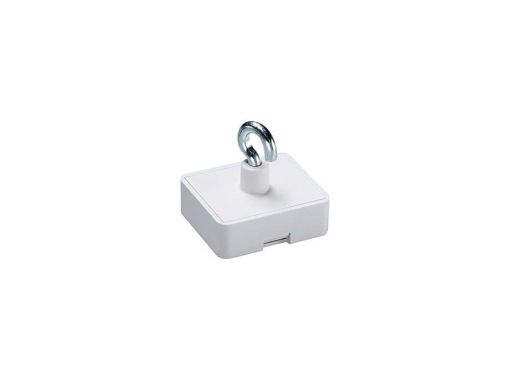 Dekorační magnet feritový biely s háčkem