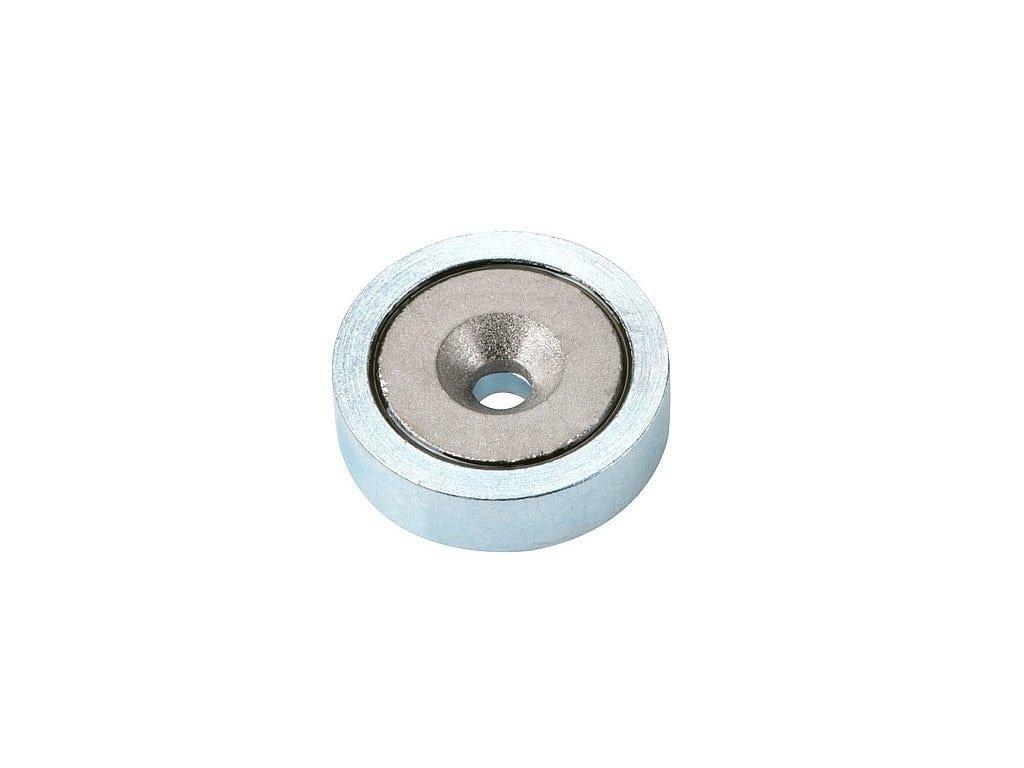 Samariová magnetická šošovka so stredovou dierou a sražením 40x5,5x8 mm