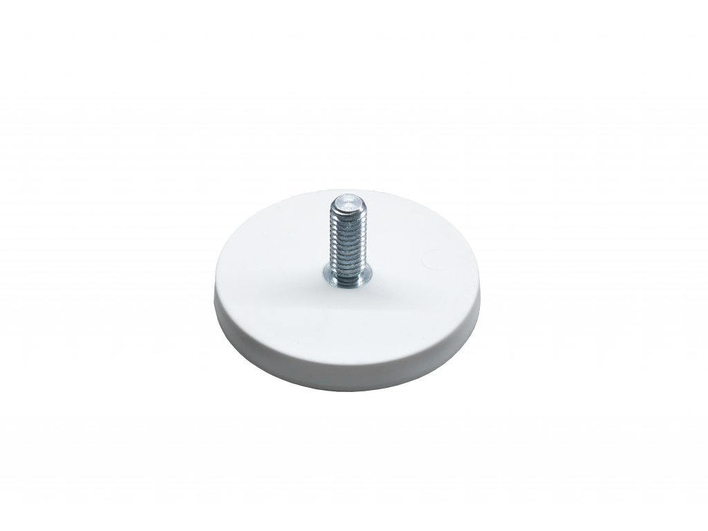 6855 3 neodymovy pogumovany magnet s vnejsim zavitem 43x x21x6 mm