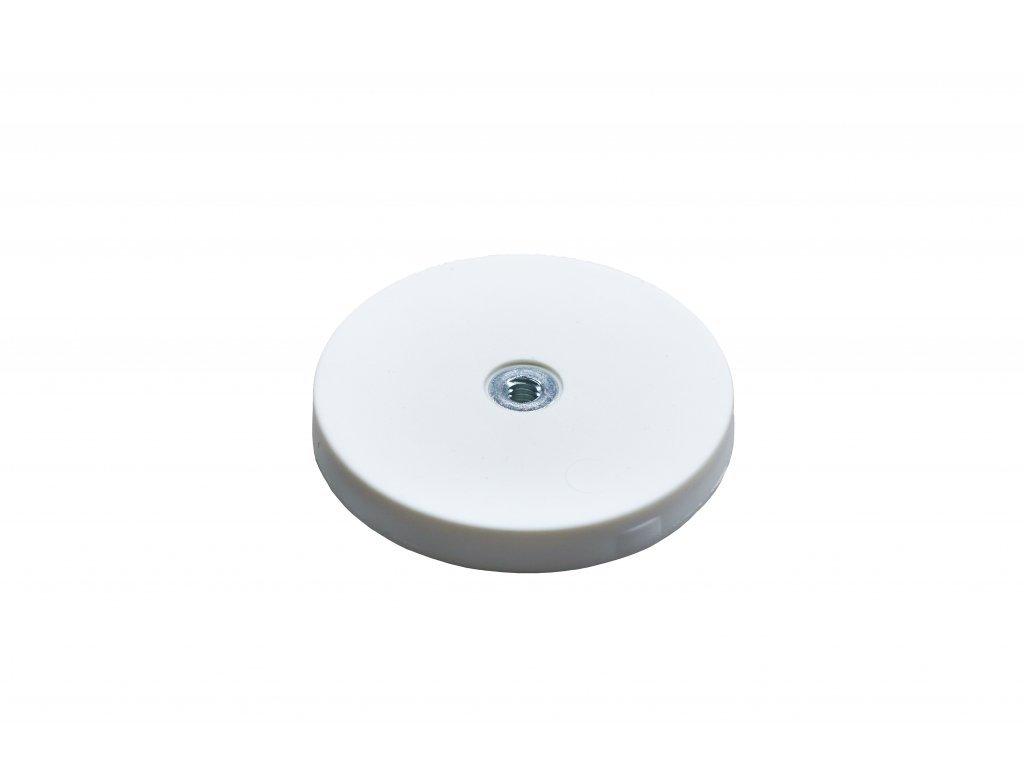 6888 3 neodymovy pogumovany magnet s vnitrnim zavitem 43x6 mm