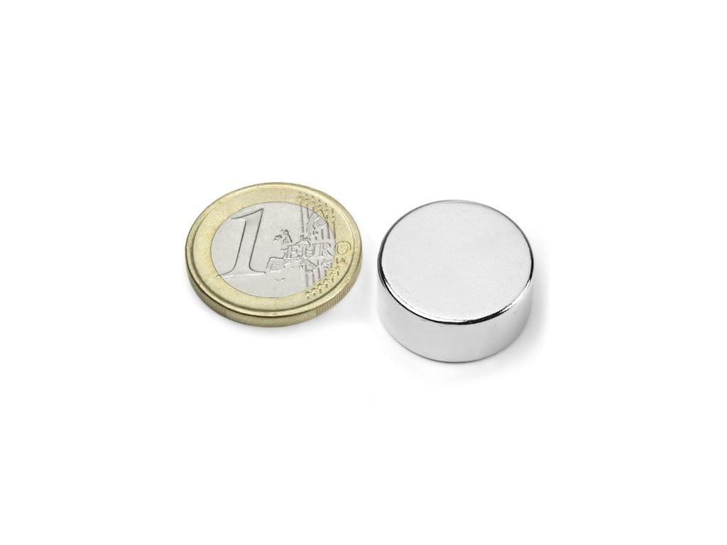 Neodymový magnet valec D20x9mm, Neodym, N42, ponikelovaný