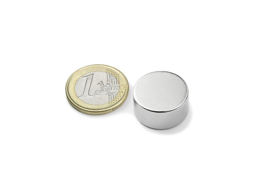 Neodymový magnet valec D20x10mm, Neodym, N42, ponikelovaný