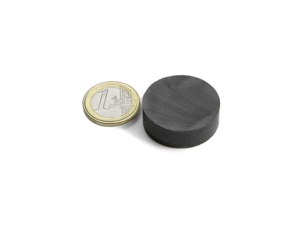 Feritový magnet valec D30x10mm, Ferit, Y35, bez povrchovej úpravy